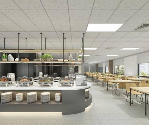 现代餐厅, 餐厅, 自助餐餐厅