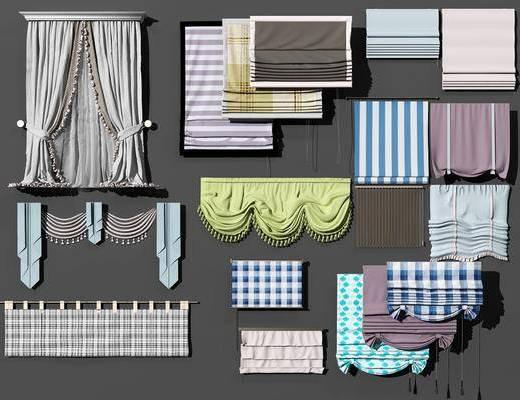 现代窗帘组合