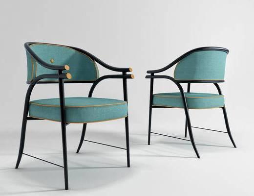 新中式椅子, 椅子, 单椅