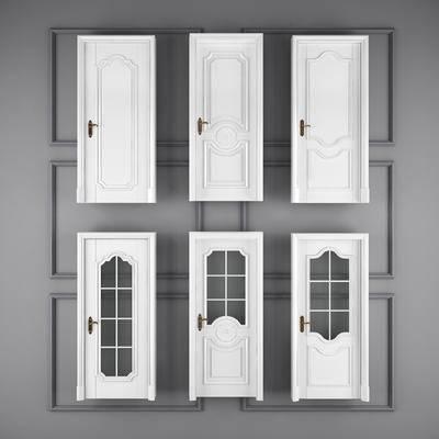 门, 简欧门, 玻璃门, 厕所门, 摆设, 欧式