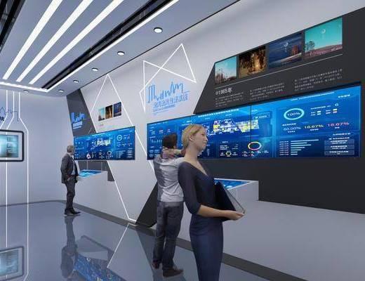科技展厅, 展览展厅, 人物, 现代