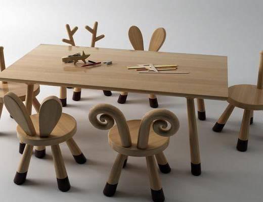现代, 桌子, 书桌