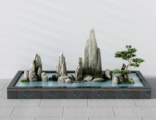 新中式景观, 景观小品, 园艺小品
