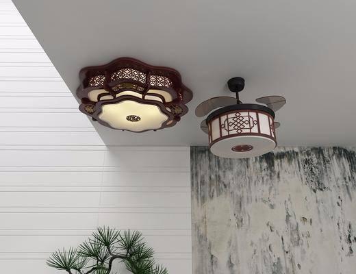 餐厅灯, 吸顶灯, 中式