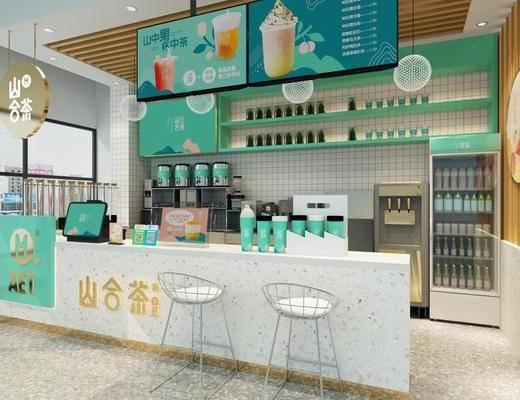 现代, 奶茶店, 桌椅组合