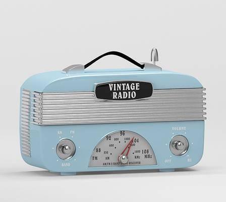 现代, 复古, 收音机, 单体