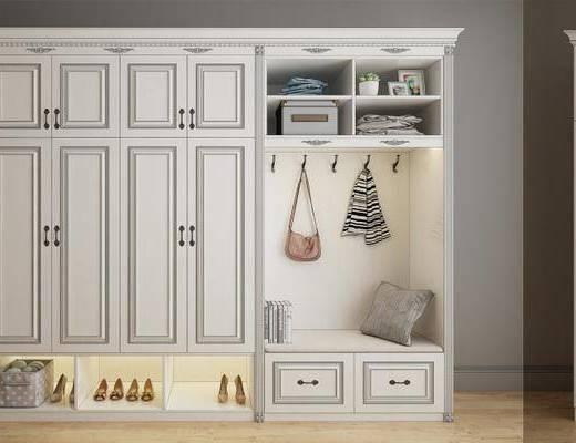 鞋柜, 装饰柜, 衣柜, 装饰品, 陈设品, 现代