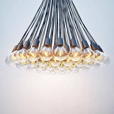 吊灯, 灯泡, 玻璃, 现代