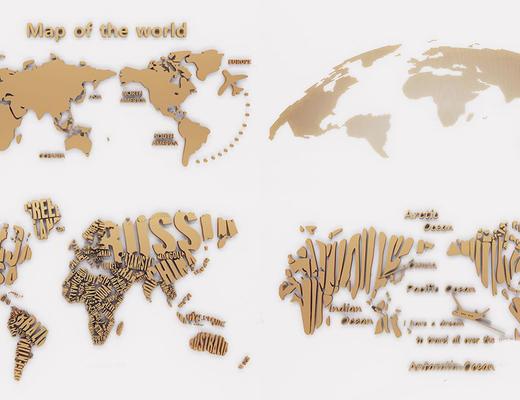 地图, 装饰品