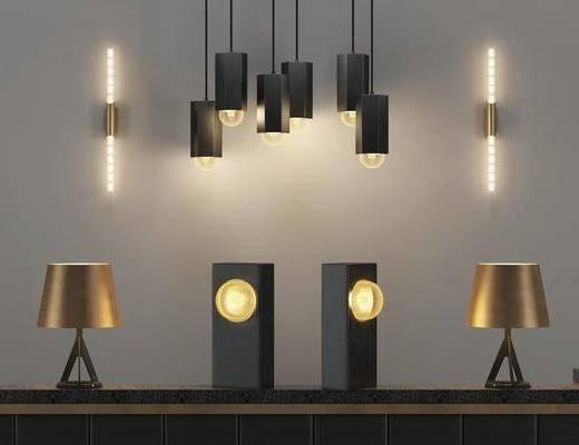 吊灯, 壁灯, 台灯, 现代