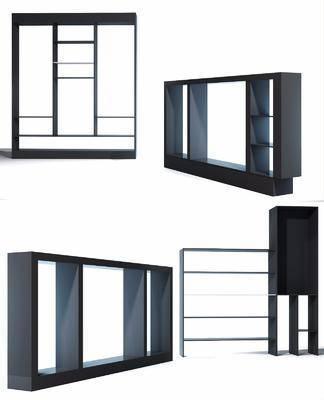 装饰柜, 置物柜, 置物架, 装饰架, 现代