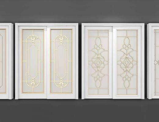 门, 欧式门, 欧式, 门构件, 构件, 推拉门
