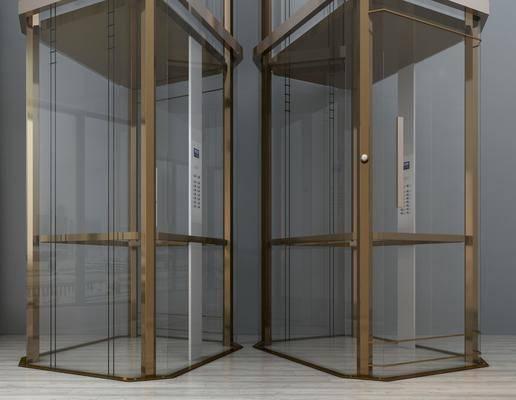 升降电梯, 电梯, 现代电梯, 商场电梯, 现代
