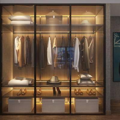 衣柜, 现代, 服装, 服饰, 衣服