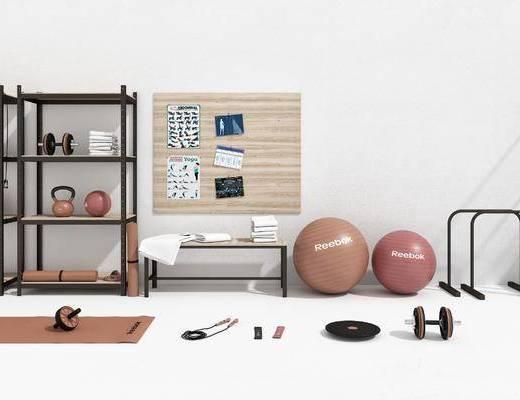 瑜伽球, 瑜伽垫, 体育器材