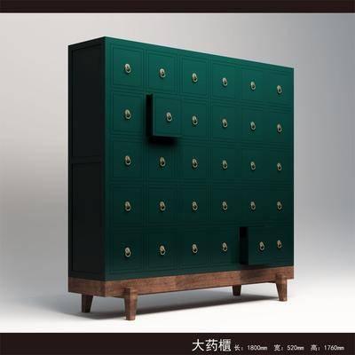 边柜, 装饰柜, 中式