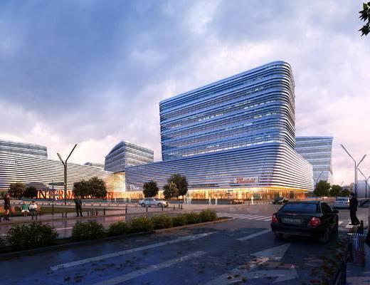 现代, 公建大楼, 黄昏