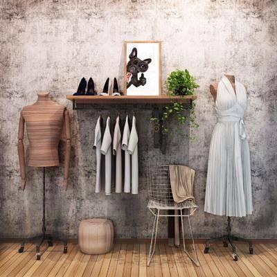 衣架, 服饰, 单人椅, 现代