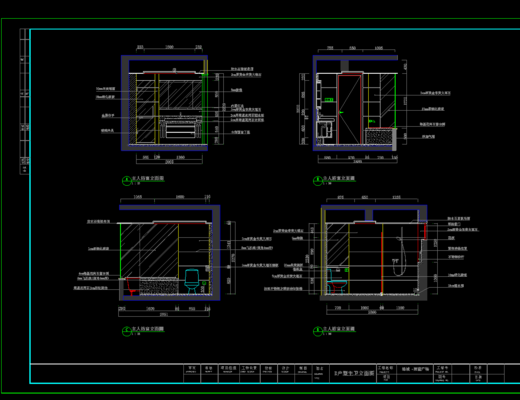 CAD, 施工图, 平面图, 立面图, 家装