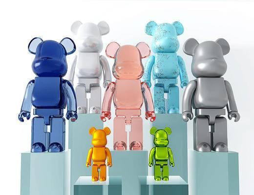 现代暴力熊玩具, 暴力熊玩具摆件