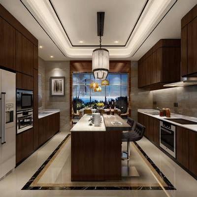 厨房, 现代厨房, 橱柜, 厨具, Diadora, 冰箱, 烤箱, 烟灶消, 吧台, 吧椅, 单椅, 椅子, 餐具, 摆件, 装饰品, 现代