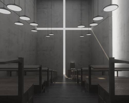 美式教堂, 教堂