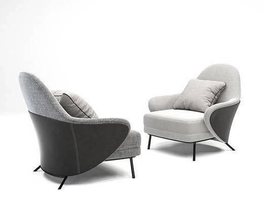 意大利minotti现代布艺单人沙发