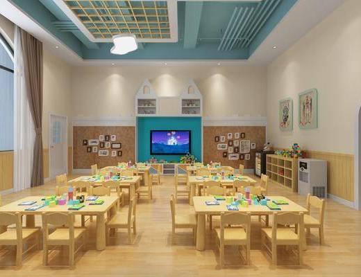 现代教室, 教室, 活动室, 幼儿园