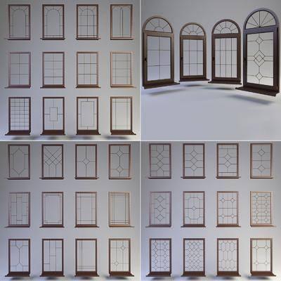 实木窗户, 窗户, 现代