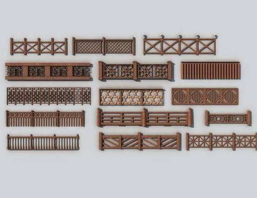 中式栅栏, 栅栏, 围栏
