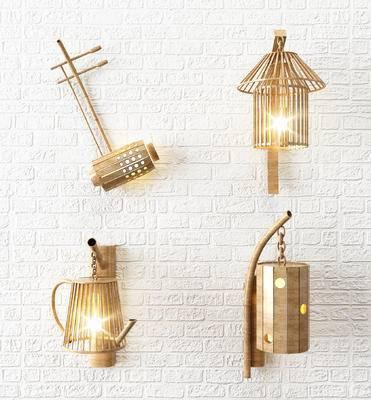 新中式壁灯, 金属壁灯