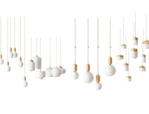 现代, 吊灯, 灯具