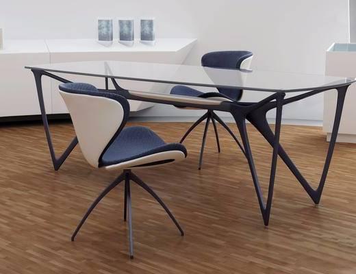 茶几, 单椅, 办公桌