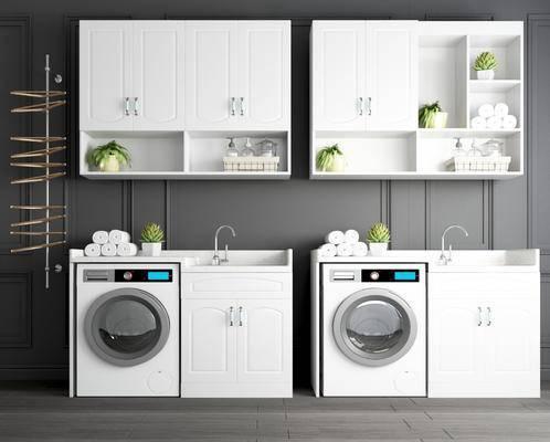 洗手柜, 浴室柜, 洗衣机伴侣, 洗衣池, 晾衣杆