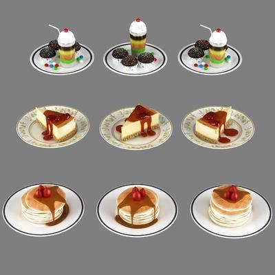 雪糕, 蛋糕, 甜品, 摆件, 食品