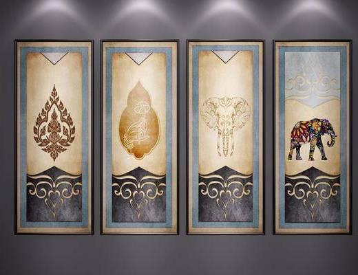 油画, 挂画, 装饰画, 东南亚