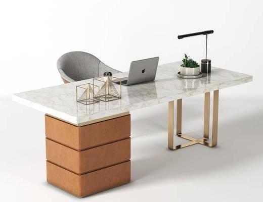 现代, 书桌椅, 组合