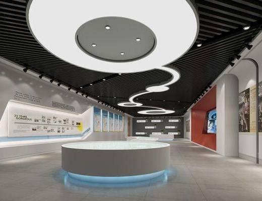 企业文化, 展览展厅, 广告牌, 现代