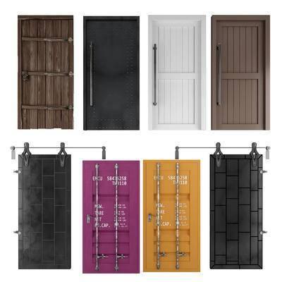移门, 单开门, 集装箱门, 工业风, 实木门, 门