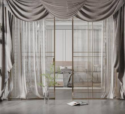 美式花纹窗帘