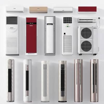 空调, 立式空调, 柜式空调, 现代, 挂式空调