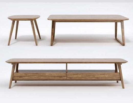 茶几, 凳子, 木质凳子, 北欧