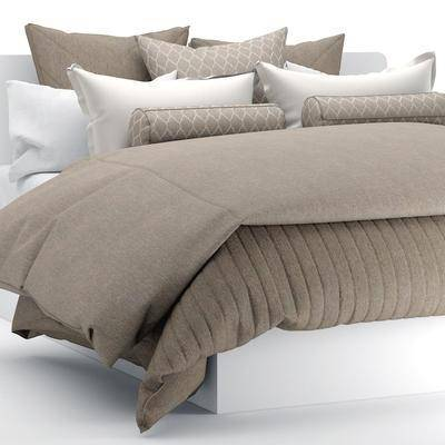 床具, 双人床, 布艺, 现代