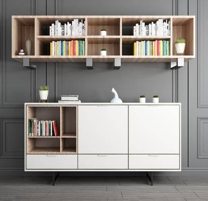 边柜, 柜架组合, 矮柜, 摆件组合