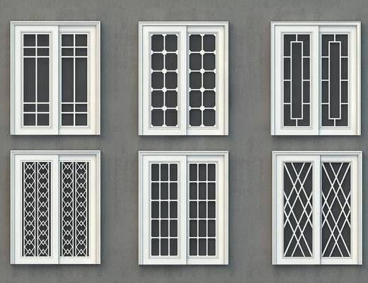 平开门组合, 防火门, 屏蔽门, 安全门, 防盗门, 门组合, 现代