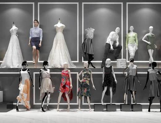现代, 服装, 模特