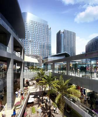 建筑, 大厦, 商业, 内街