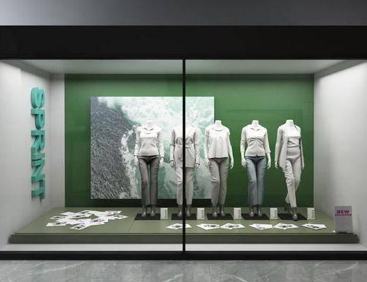 橱柜, 服饰, 模特, 现代
