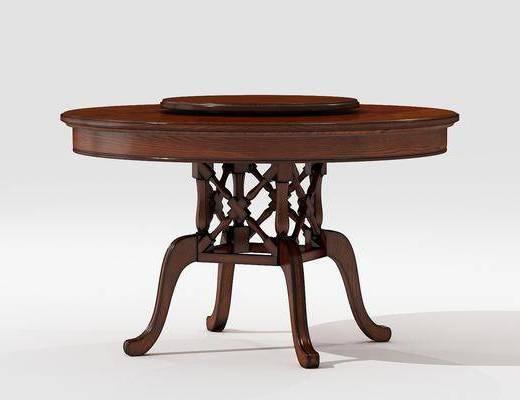 圓餐桌, 餐桌, 美式