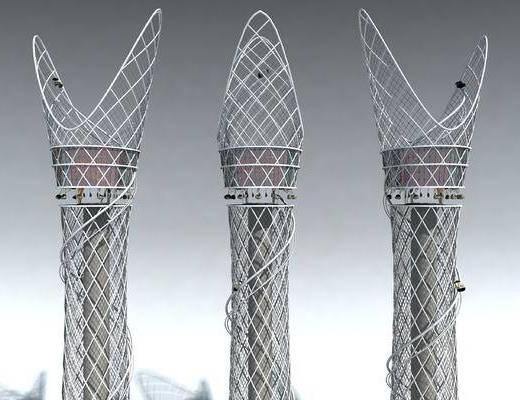 塔, 现代, 后现代, 高塔